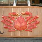 蟹の立体造形看板